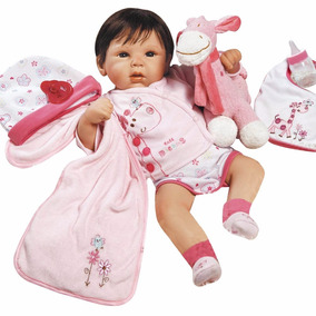 Bebe Reborn Linda Menina Com Enxoval Detalhes Reais
