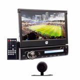 Kit Dvd Player Retratil Tela Touch 7 Usb Aux Camera De Re