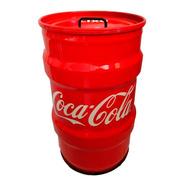 Lixeira Domestica Tambor Decorativo Coca Cola Tonel