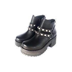 Botas Borsegos Tachas De Mujer Invierno 2018 Zapatos Moda