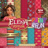 Kit Imprimible Princesa Elena De Avalor Fondos + Cliparts