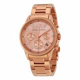 Reloj Armani Exchange Ax4326 Para Dama Crono Acero Oro Rosa*