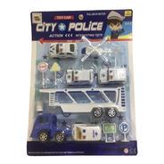 Conjunto De Brinquedos 12 Peças - Polícia Na Cidade
