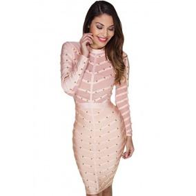 Vestido Fiesta Bandage Rosa Ropa Mujer Envío Gratis