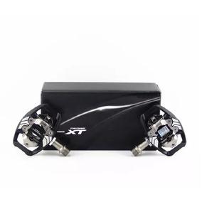 Pedal Shimano Deore Xt Pd-m8020 Preto C/ Tacos Sm-sh51 Par