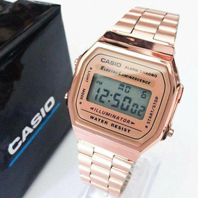 Casio Rosa,gold Rose,extensible Acero Inoxidable,contra Agua