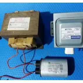 Kit Magnetron + Capacitor + Diodo + Trafo 220v