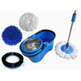 Balde Centrifuga Perfect Mop 360º Com 4 Refis Mop Limpeza