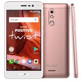 Smartphone Positivo Twist 2018 Rosa 16gb Novo Nota Fiscal