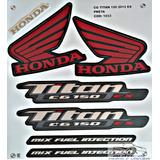 Kit Faixa Adesivo Titan Cg 150 Ex Mix Preta 2012