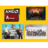 Computadora A4 Gamer Video 2gb Ddr5 Dota Gta5 Over A6 A8 A10