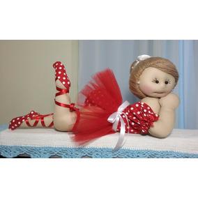 Boneca De Pano 40 Cm Bailarina, Artesanal