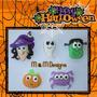 Apliques De Halloween En Masa Flexible