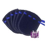 Pacote Com 20 Saquinhos Veludo Pequeno Azul Marinho