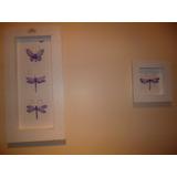 2 Cuadros Con Mariposas Aplicadas Hermosos Miralos...