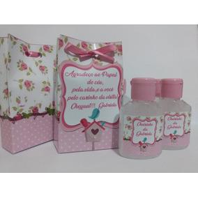 35 Lembrancinhas/álcool Gel/maternidade/chá De Bebê /menina