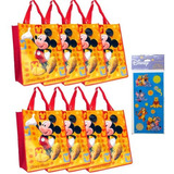 8-pack Mickey Mouse Tote Bag Set (grandes 15 X16 X67 Tej