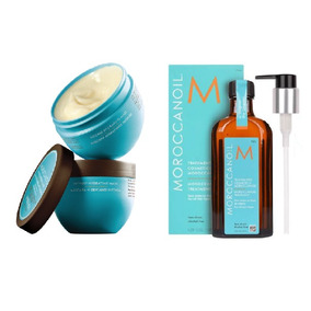 Moroccanoil Máscara Hidratante 250g + Óleo Treatment 125ml