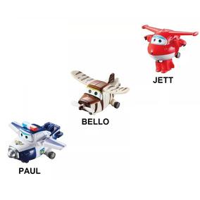 Super Wings Mini Aviões Discovery Kids Kit 3uni - Fun