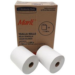 2 Cajas Papel Toalla 6 Rollos Blancos En Cada Caja