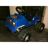 Karting Jeep, Carrocería Plástica, Armazón De Metal, A Pedal