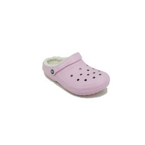 Sueco Crocs Lined Clog Rosa Dama Deporfan
