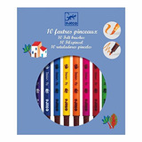 Djeco / 10 Colores Clásicos De Doble Punta De Fieltro Marcad