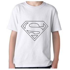 Remeras Para Pintar C/ Fibras- Superman - 10 Un - Souvenirs