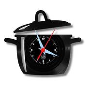 Panela Cozinha Acompanha Brinde Relógio Parede Vinil Lp Disc