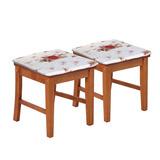 Kit Com 2 Almofadas Assento Ou Encosto P/ Cadeira Estampado