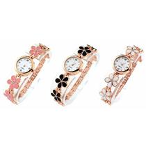 Relógio Feminino Pulso Dourado Luxo Varias Cores