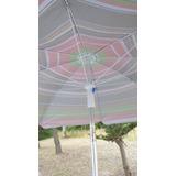 Sombrilla Aluminio 2 Mts Diam. Con Ventilación - Ideal Playa