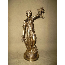 Estatua De La Justicia Labrada!! 36cm De Alto!! Dorada