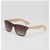 Óculos De Sol De Madeira/bamboo 10% Off Queima Total Verão