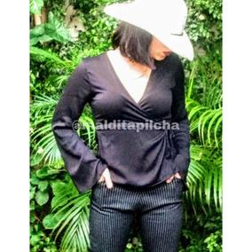 Blusa Camisa Vestir Mujer Lisa Manga Acampanadas