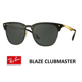 Oculos Ray Ban Blaze Clubmaster Dourado 3576n - Óculos no Mercado ... c4e01480a6