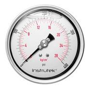 Manómetro Premium Inox Glicerina Carátula 4 PLG , 400 Psi