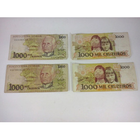 Notas Antigas Cedulas Dinheiro Antigo 1000 Cruzeiros