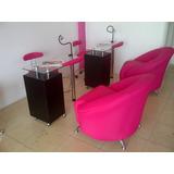 Mobiliario De Peluquerías Mesas Manicure & Pedicure
