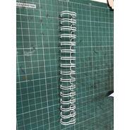 10 Un Espiral Metal Wire-o 1/4 Branco 25  Fls Passo 3:1