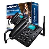 Telefone De Mesa Rural Aquário Ca-40 Quadriband S/ Juros
