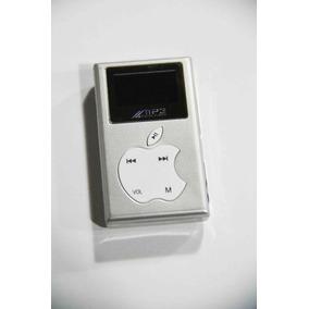 Mini Mp3 Player Digital 3.6x6.1novo Prata 2gb