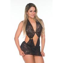 Camisola Sexy Toda Em Renda Transparente Sensual