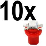 10 X Lampada Led Vermelho Neon T5 B8.5 Painel Compativel Gm