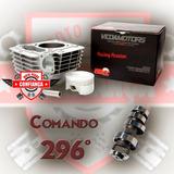 Kit Cilindro Pistao Aneis Trava Pino + Comando Titan 150 Fan
