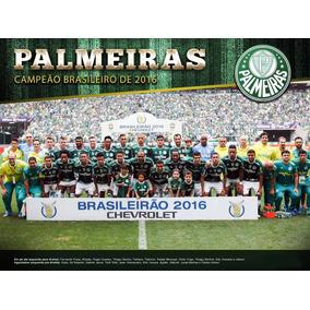 Poster Palmeiras Campeão Brasileirão 2016 Verdão 90x60