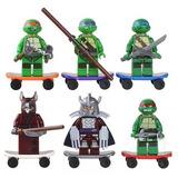 Tortugas Ninja Set De 6 Figuras Compatibles Con Legos