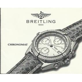 Manual Básico De Uso De Reloj Breitling Chronomat - Original