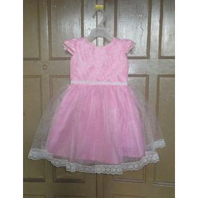 Vestidos Para Niñas Bebes Bautizos Rosado Talla 1 A 2 Años