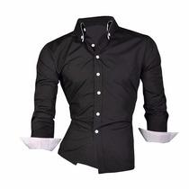 Camisas De Vestir Para Caballeros Slim Fit